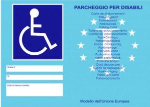 contrassegno parcheggio invalidi