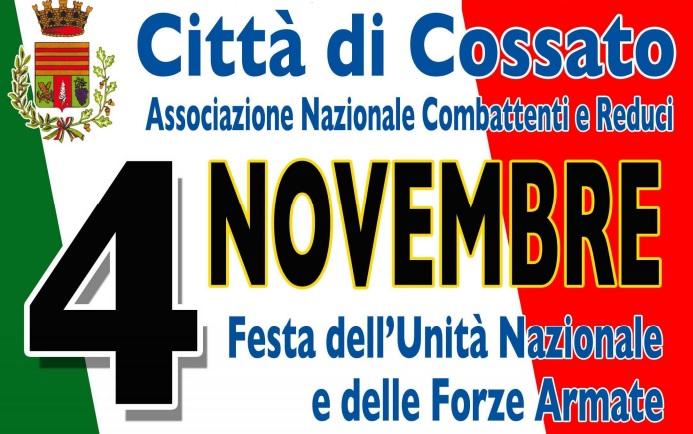 Cossato le celebrazioni del 4 Novembre