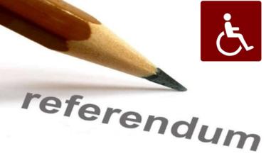 Referendum: voto assistito e facilitazioni per i disabili