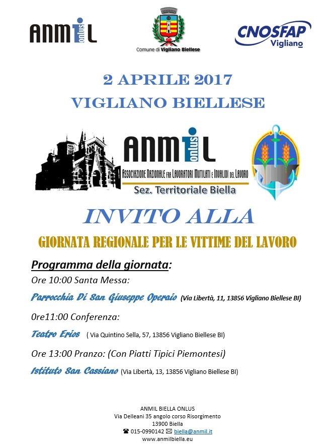 Locandina giornata regionale 2 aprile 2017