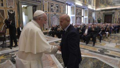 Anmil da Papa Francesco accoglie Il presidente Franco Bettoni