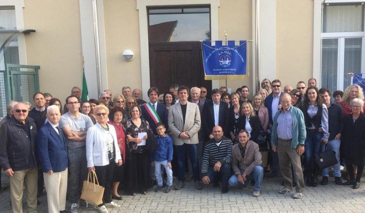 Foto di gruppo alla giornata vittime nel comune di Valdengo